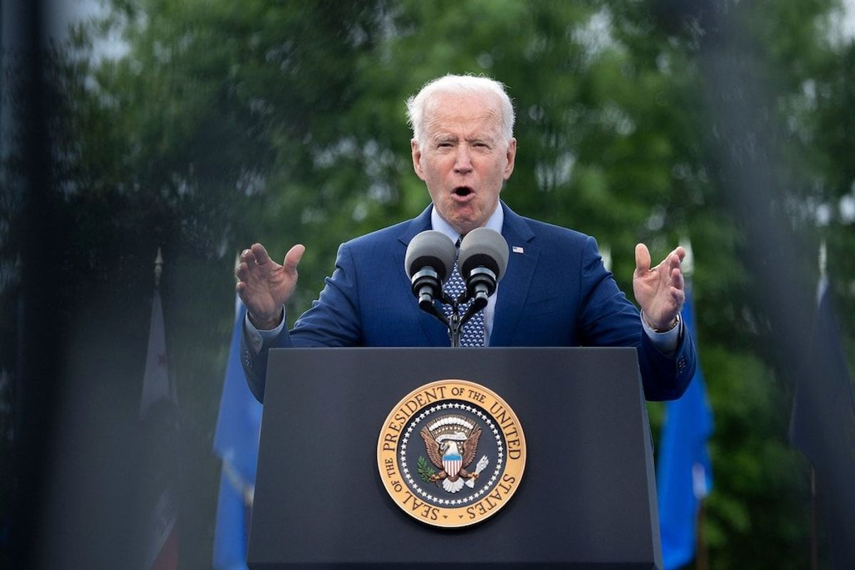 Biden Takes Victory Lap at Drive-In Rally on 100th Day in Office