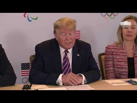 President Donald Trump Hosts College Athletes at White House