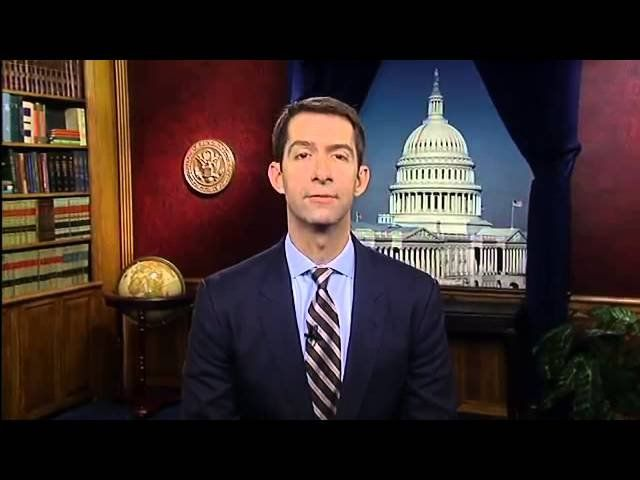 Tom Cotton focuses on troops during Thanksgiving address