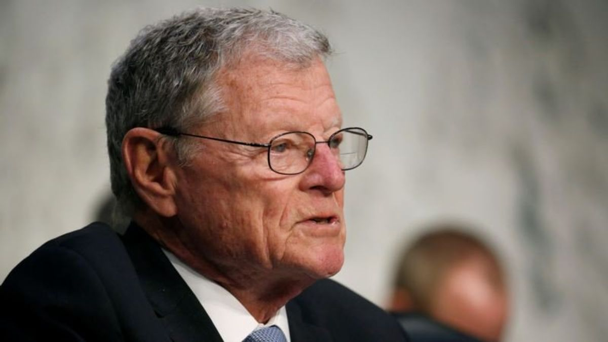 Trump Backer Inhofe in Line to Chair Powerful Senate Armed Services Panel