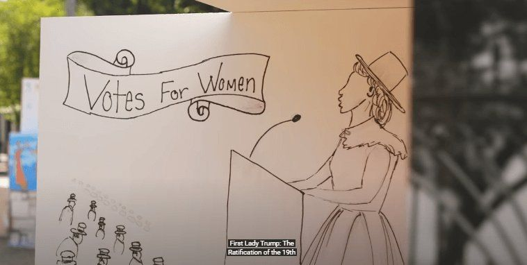 First Lady Melania Trump Unveils Art Exhibit for the 100th Anniversary of the 19th Amendment