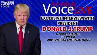 AMERICA'S VOICE LIVE EXCLUSIVE INTERVIEW WITH PRESIDENT TRUMP