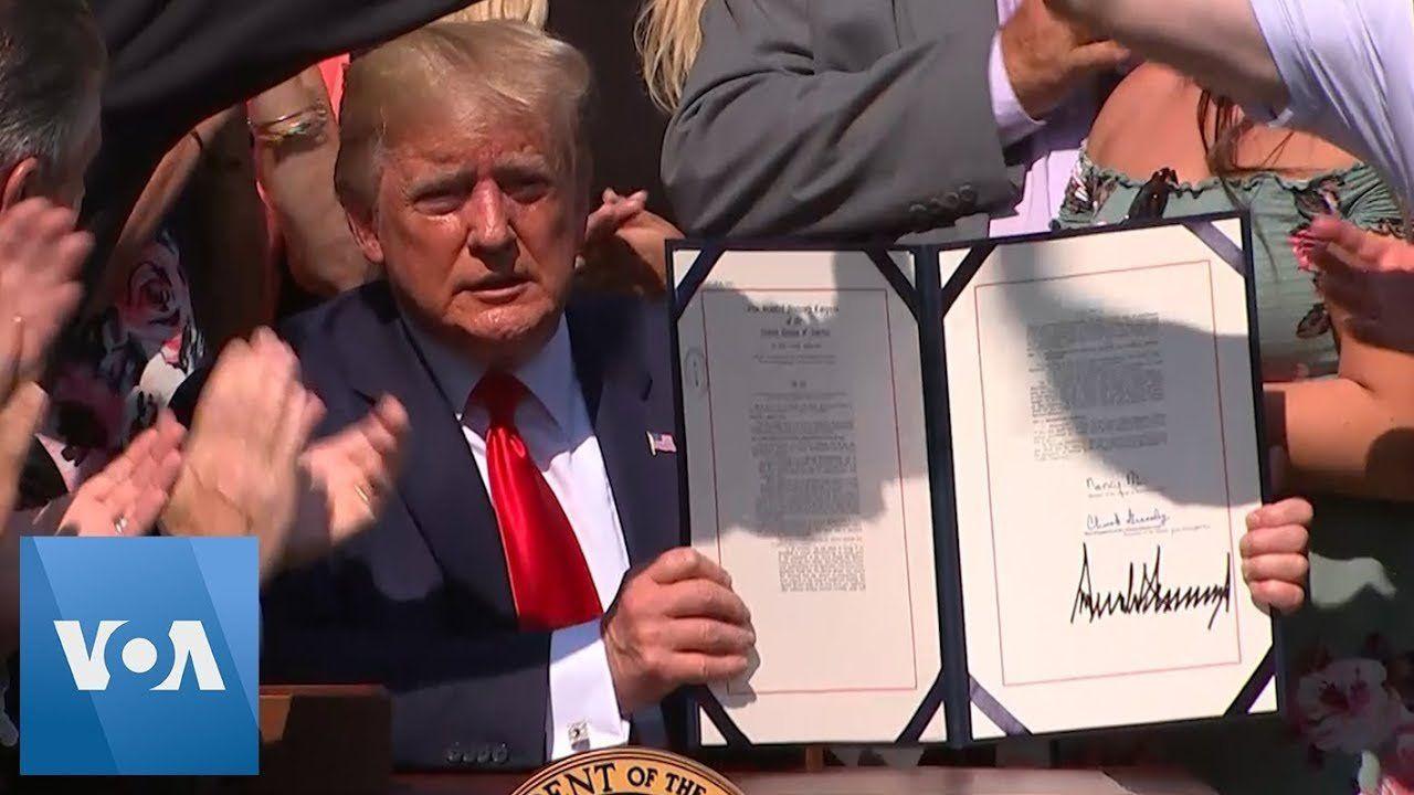 President Donald Trump Signs 9/11 Victim Compensation Bill
