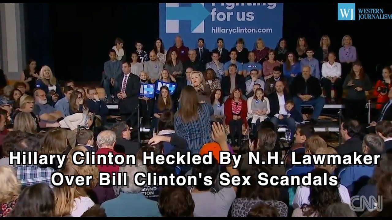Hillary Clinton Heckled By N.H. Lawmaker Over Bill Clinton's Sex Scandals