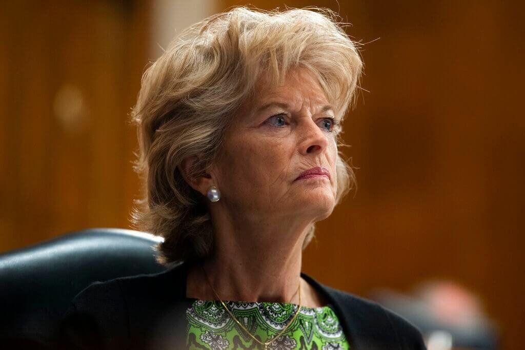 FILE - In this June 23, 2020, file photo Sen. Lisa Murkowski, R-Alaska, listens during a Senate Health, Education, Labor, and…
