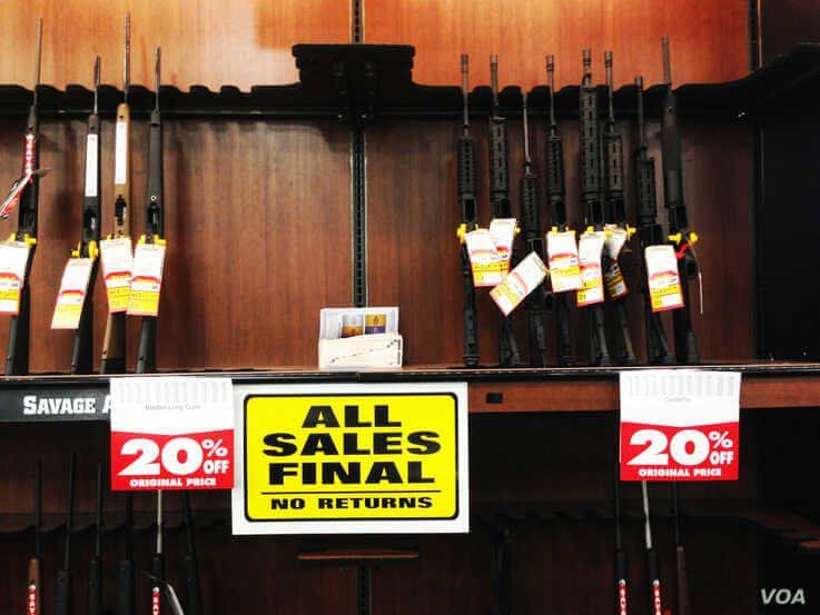 FILE - Several types of weapons, including AR-15 style rifles, are displayed at a gun shop in Virginia. (Photo: Diaa Bekheet)