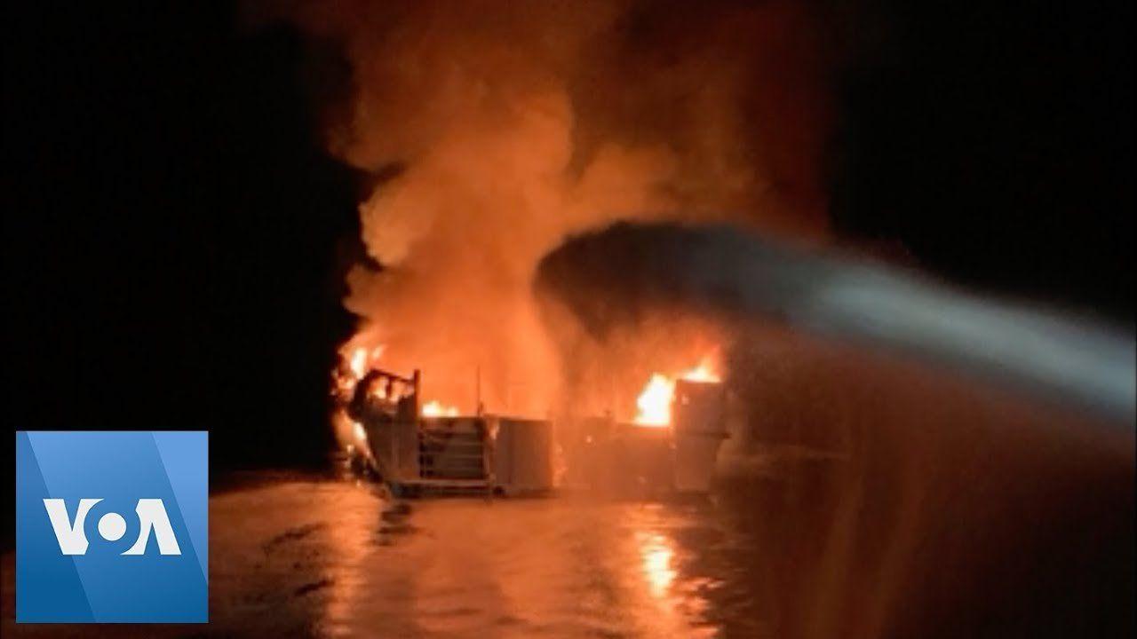 California Boat Fire Leaves Dozens Missing