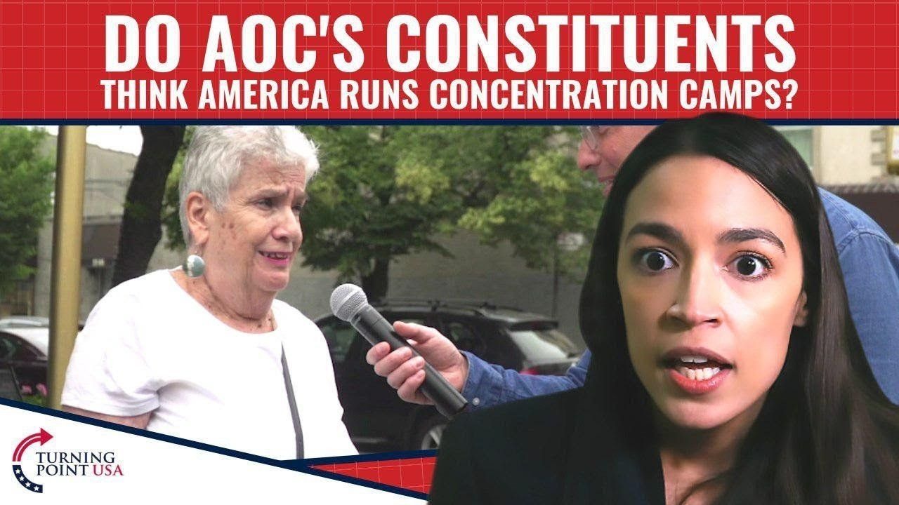 Do AOC's Constituents Think America Runs Concentration Camps?
