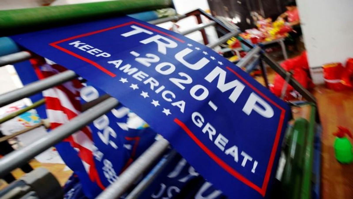 Trump Re-Election Flags Ordered Early, May Avoid Tariffs on China