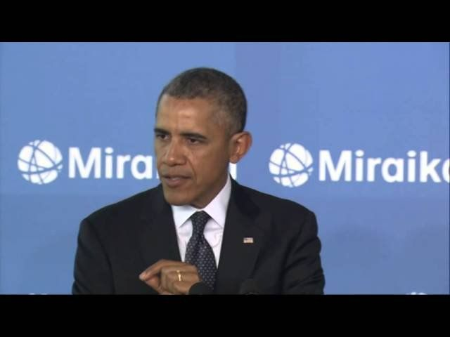 Obama encourages Japanese student-scientists