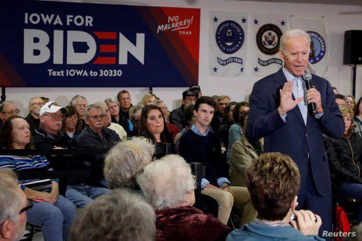 FILE PHOTO: Democratic 2020 U.S. presidential candidate and former U.S. Vice President Joe Biden speaks during his