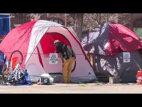 100s Of Homeless Tents In Denver Colorado Buckets Of Feces URINE Stench Community Outraged