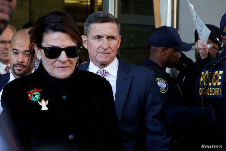 Former U.S. national security adviser Michael Flynn departs after his sentencing was delayed at U.S. District Court in Washington, U.S., Dec.18, 2018.
