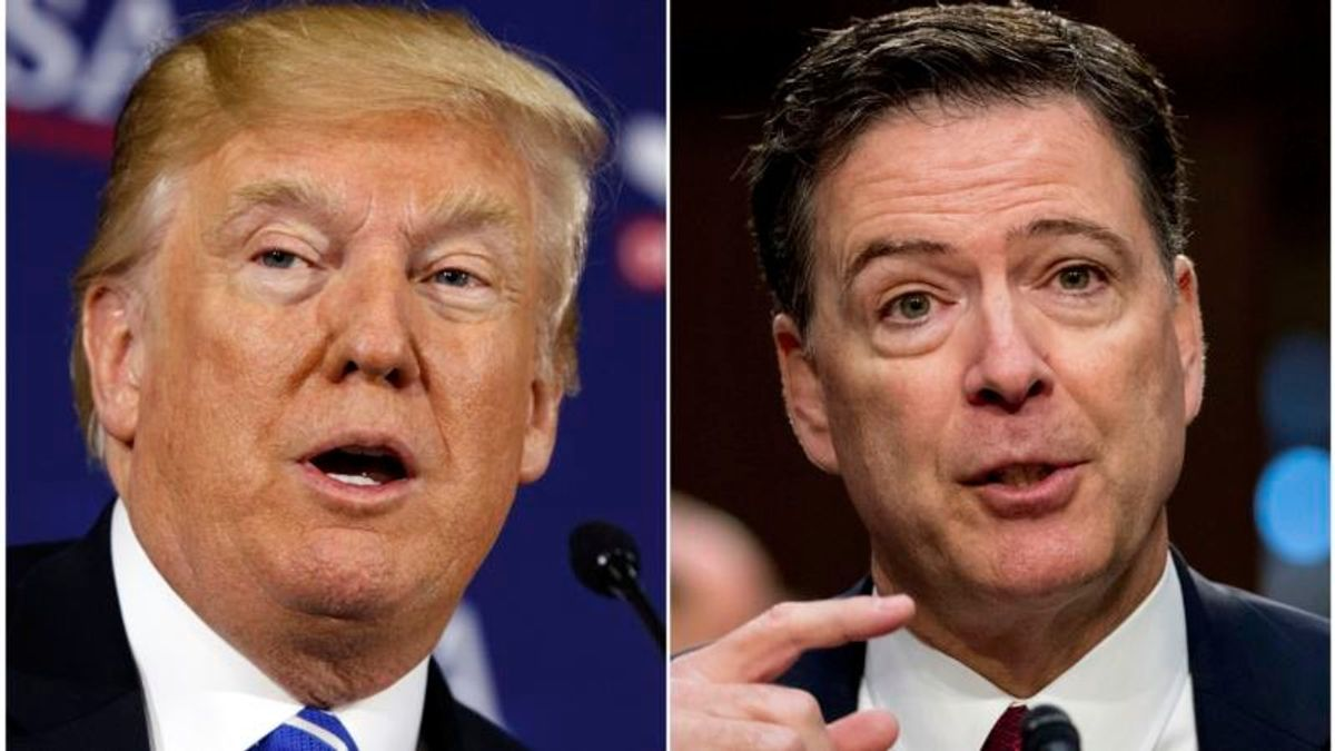 Trump Denies He Fired Comey Over Russia Probe