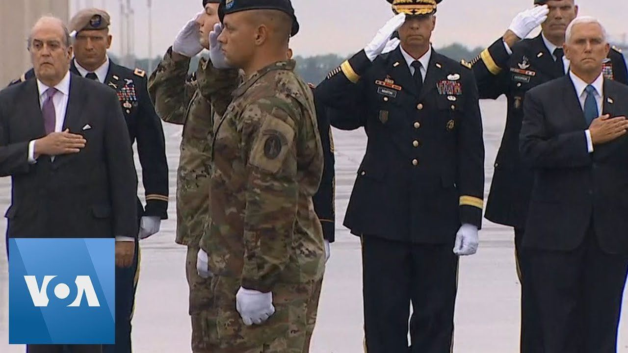 U.S. Vice President Mike Pence Oversees Dignified Transfer of Two Soldiers Killed in Afghanistan