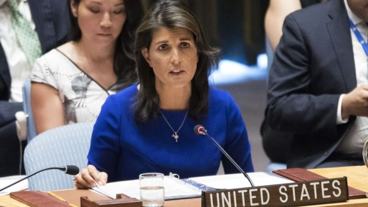 US Envoy Haley Questions Palestinian Refugee Numbers