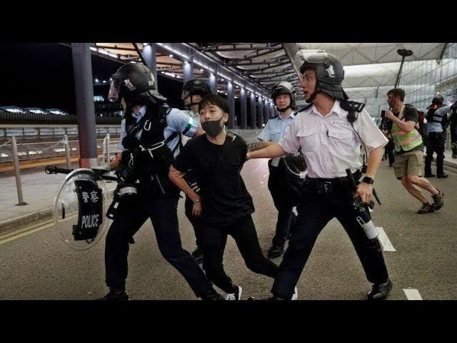 Airport clashes are 'near-terrorist acts,' says China's Hong Kong office