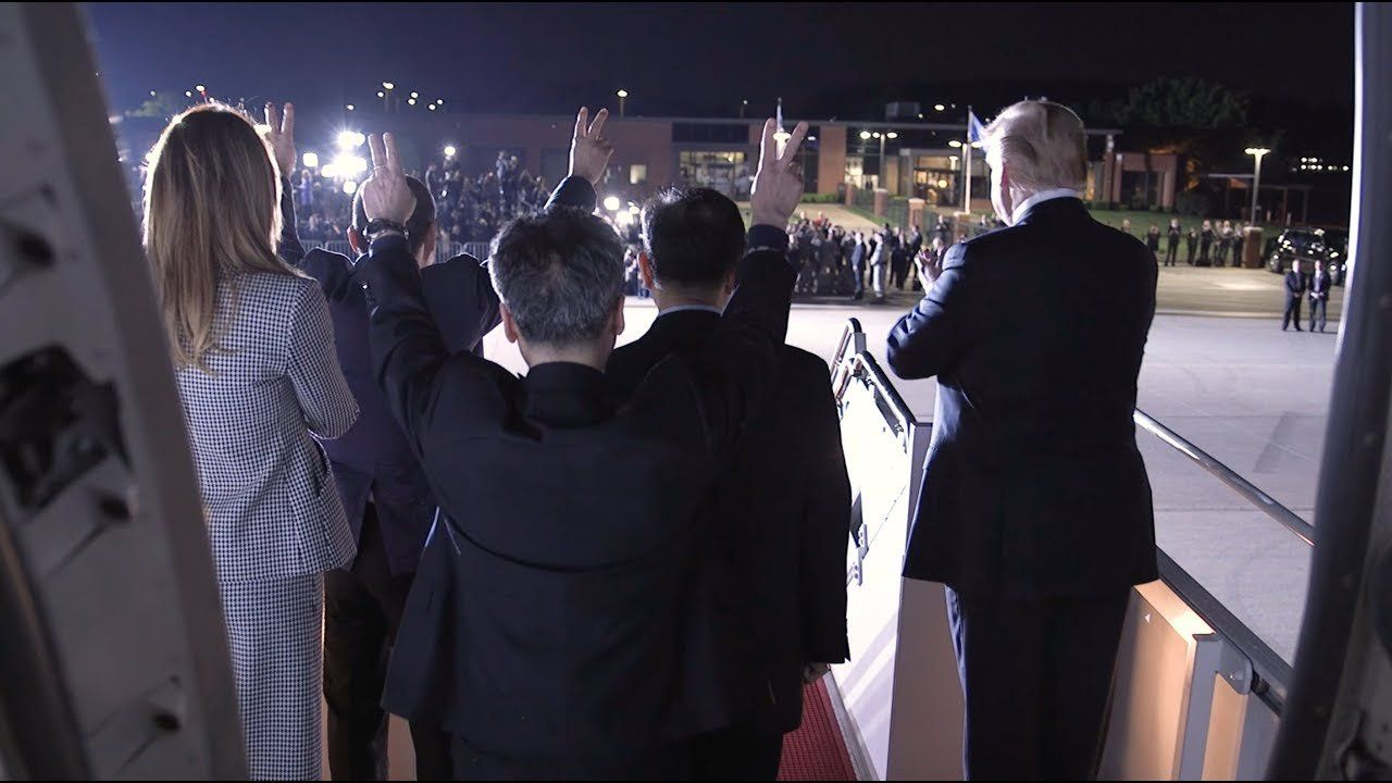 President Donald J. Trump and First Lady Melania Trump Welcome the Three American Returnees