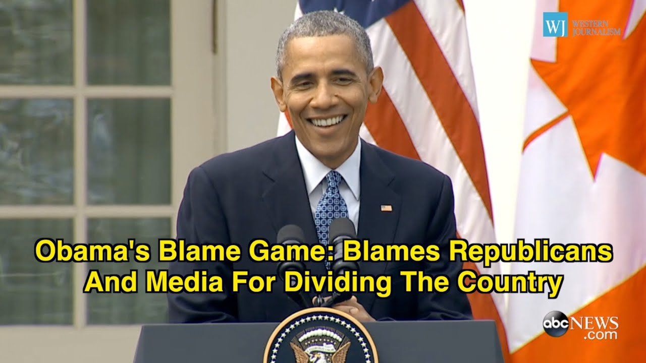 Obama's Blame Game: Blames Republicans And Media For Dividing The Country