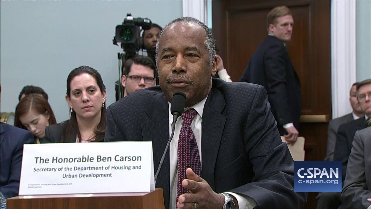 """Secretary Ben Carson on $31,000 table: """"I said, 'what the heck is that all about?'"""" (C-SPAN)"""