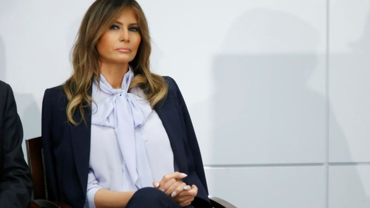 Melania Trump Calls Cyberbullying 'Destructive and Harmful'