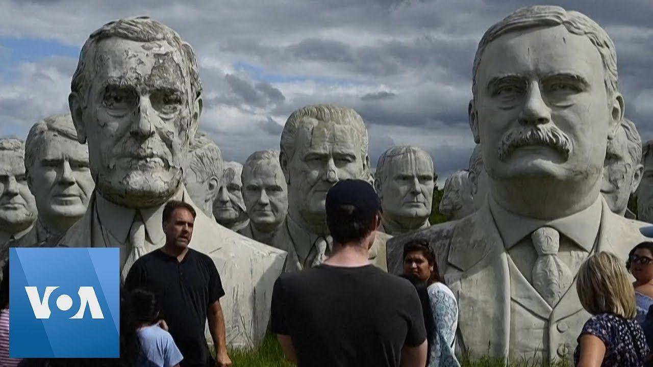 Huge Statues of US Presidents in Rural Virginia
