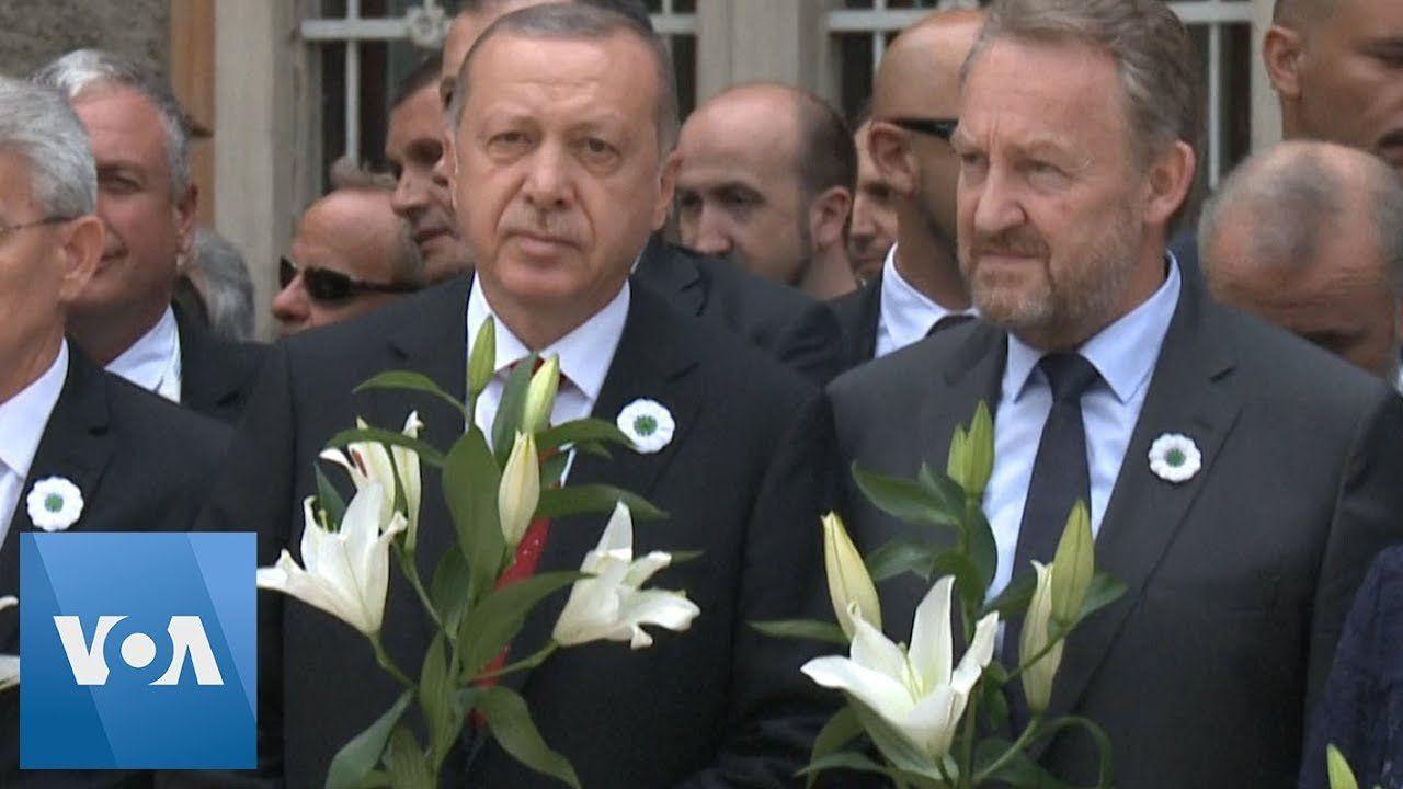 Erdogan Pays Tribute to Srebrenica Victims