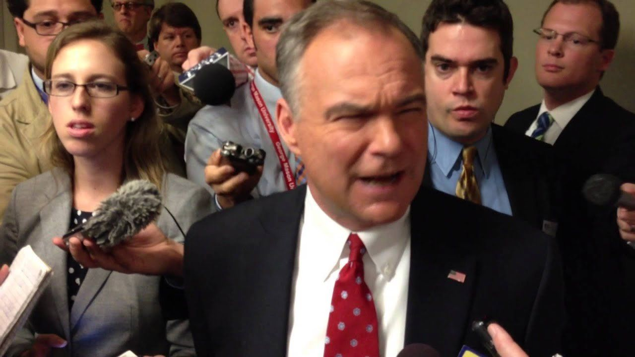 Tim Kaine Answers Questions After Debate