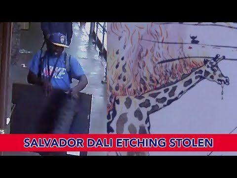 Salvador Dali etching Stolen