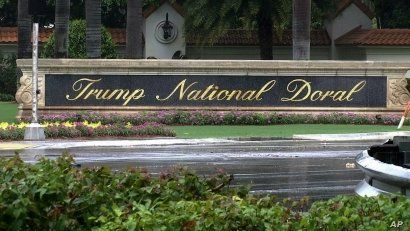A frame from video shows the Trump National Doral, in Doral, Florida, June 2, 2017.