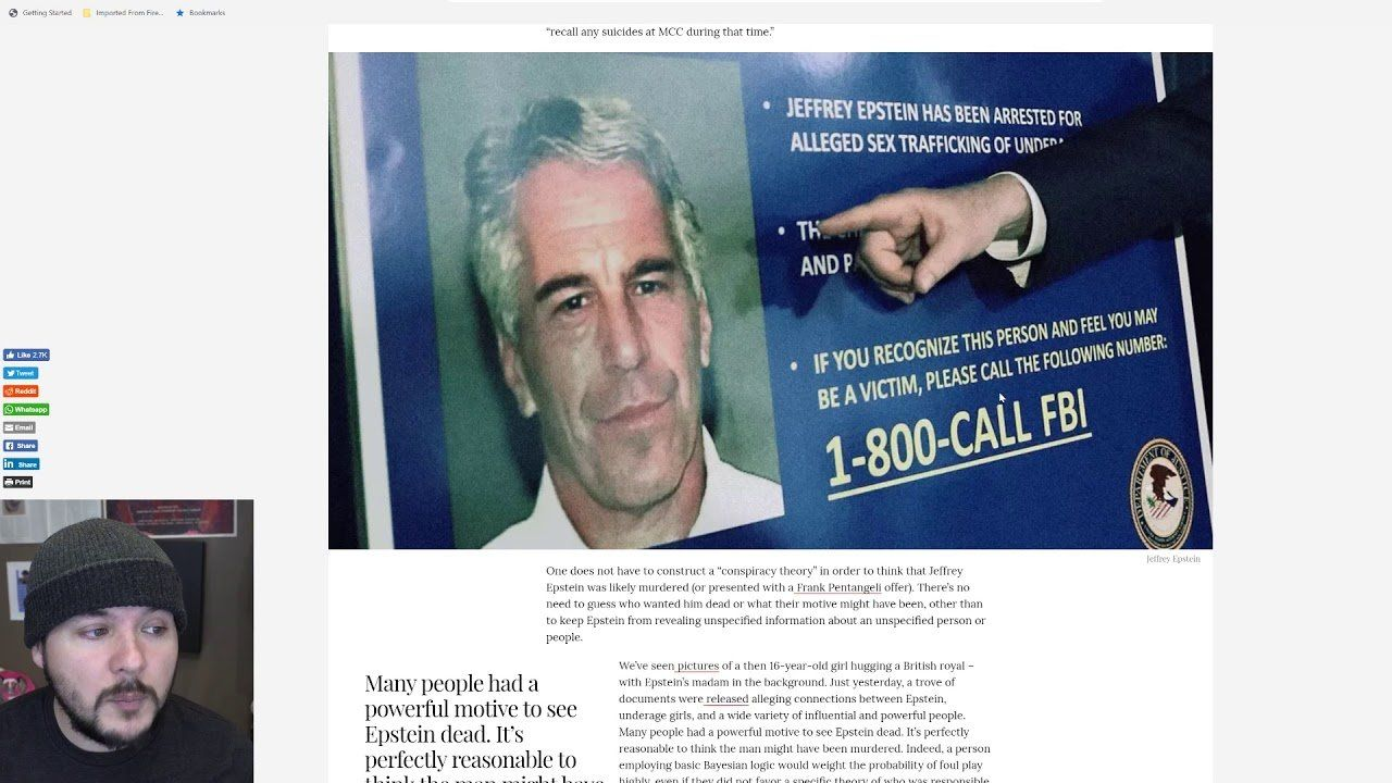 Everyone Is A Conspiracy Theorist After Epstein, Fake News Has Become Blatant