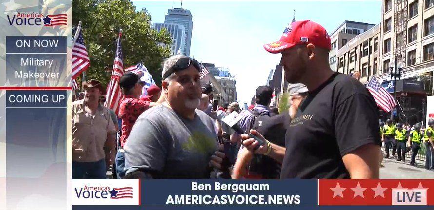 America's Voice live coverage at the Straight Pride event in Boston