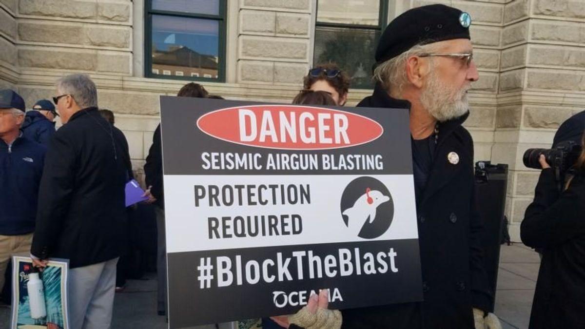 Groups Sue Trump Administration Over Atlantic Oil Testing