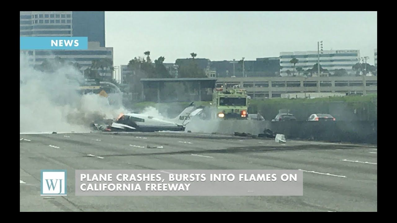 Plane Crashes, Bursts Into Flames On California Freeway