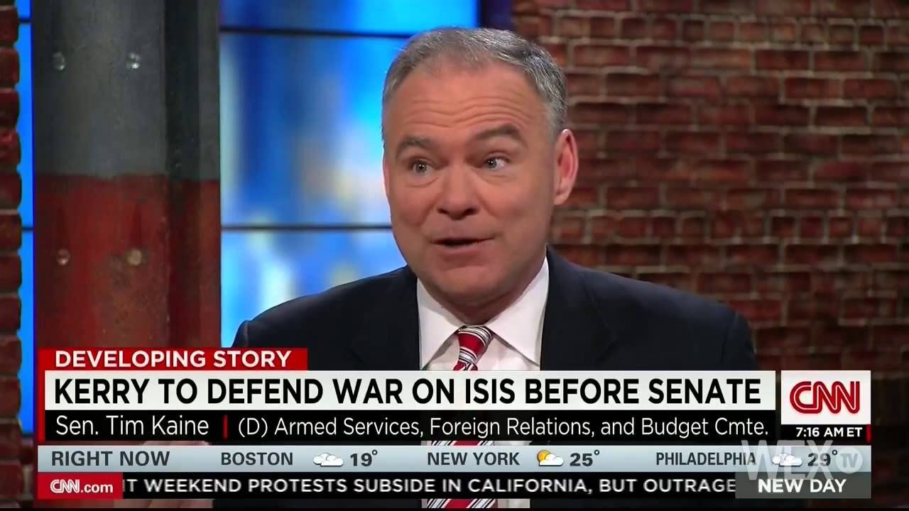 Tim Kaine expects military authorization vote this week