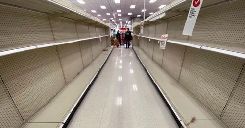 Why do store shelves remain empty more than a year after the pandemic started?