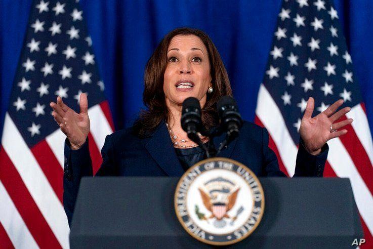 Vice President Kamala Harris speaks about voting rights at Howard University in Washington, Thursday, July 8, 2021. (AP Photo…