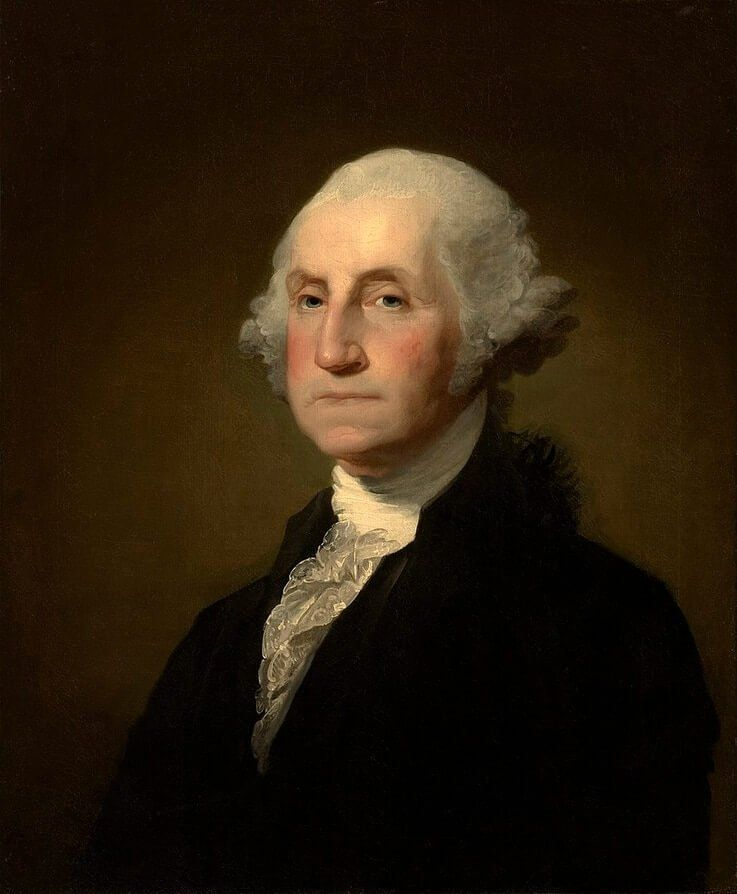 George Washington, president of the 1787 Constitutional Convention and America's first U.S. president, was born into a landowning family and married a wealthy widow.
