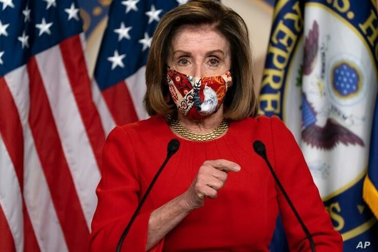 House Speaker Nancy Pelosi, of Calif., speaks during her weekly briefing, Friday, Dec. 4, 2020, on Capitol Hill in Washington. …