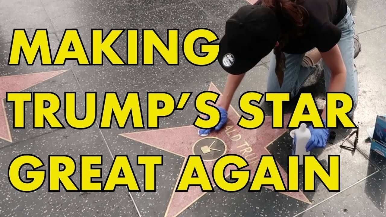 TRUMP HOLLYWOOD STAR: Making Trump's Star Great Again!