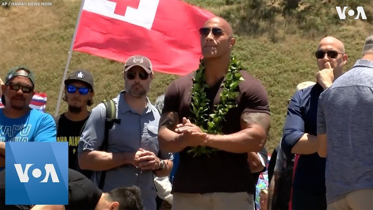 'The Rock' Visits Telescope Protests in Hawaii