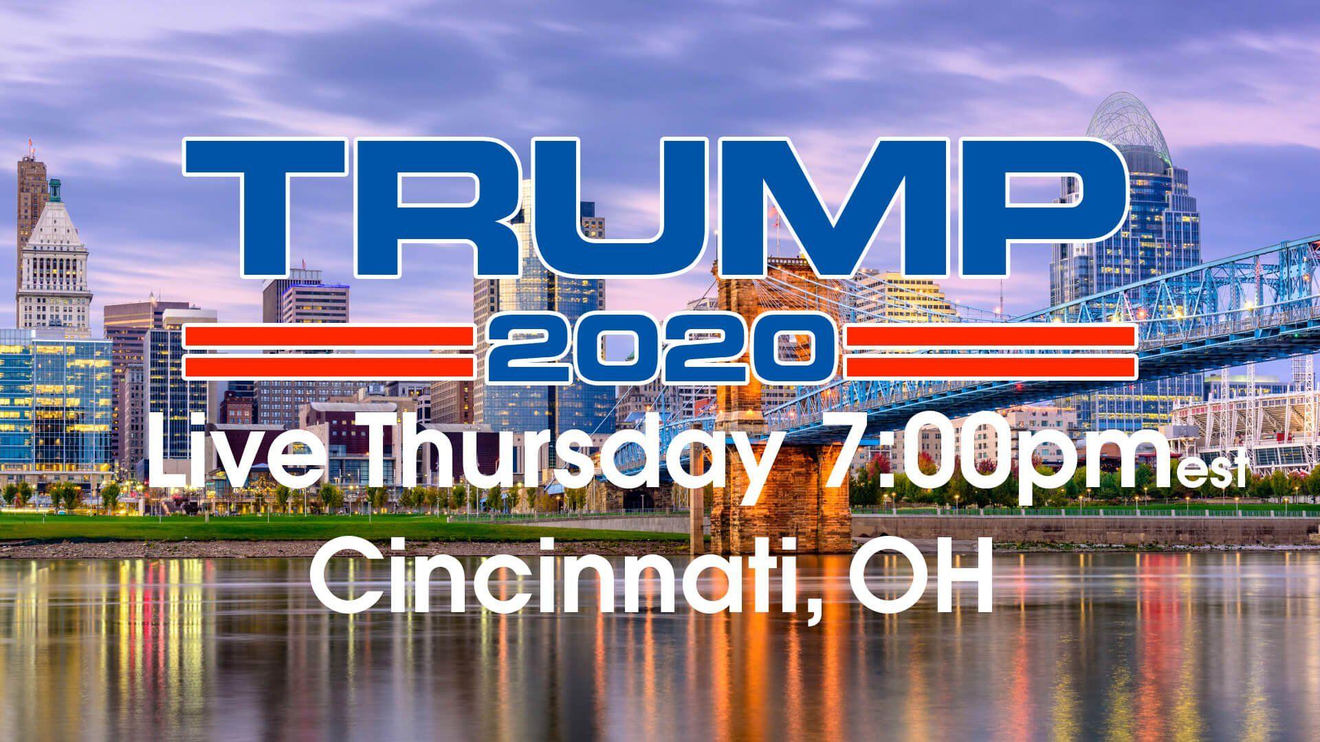 Trump Rally Live in Cincinnati Ohio