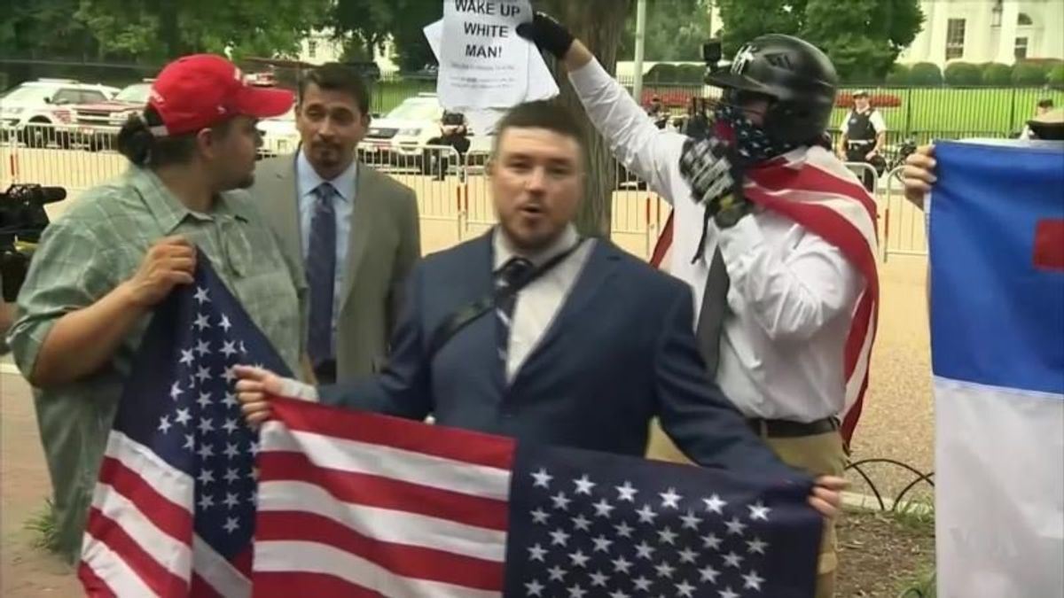 White Nationalists Rally in Washington; Greatly Outnumbered by Counter-Protesters