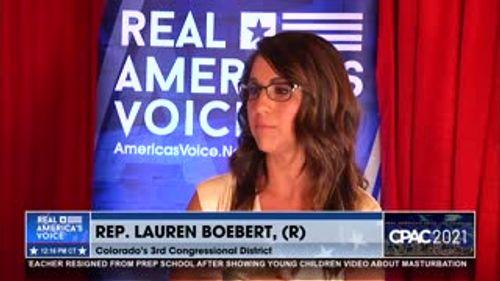 RAV's Amanda Head speaks with Lauren Boebert at CPAC 2021
