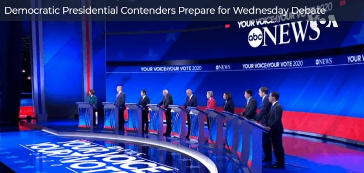 Democratic Presidential Contenders Prepare for Debate