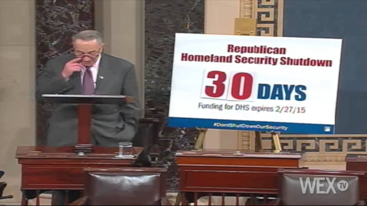 Sen. Schumer lays out impacts of a potential DHS shutdown