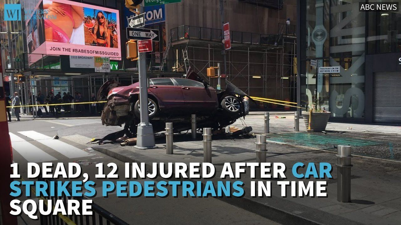 1 Dead, 12 Injured After Car Strikes Pedestrians In Time Square