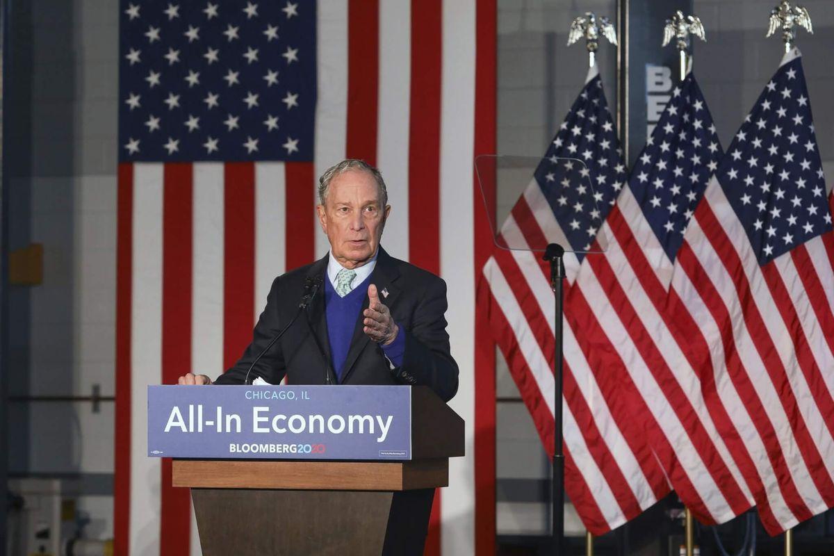 Trump Targeting Democratic Candidate Bloomberg
