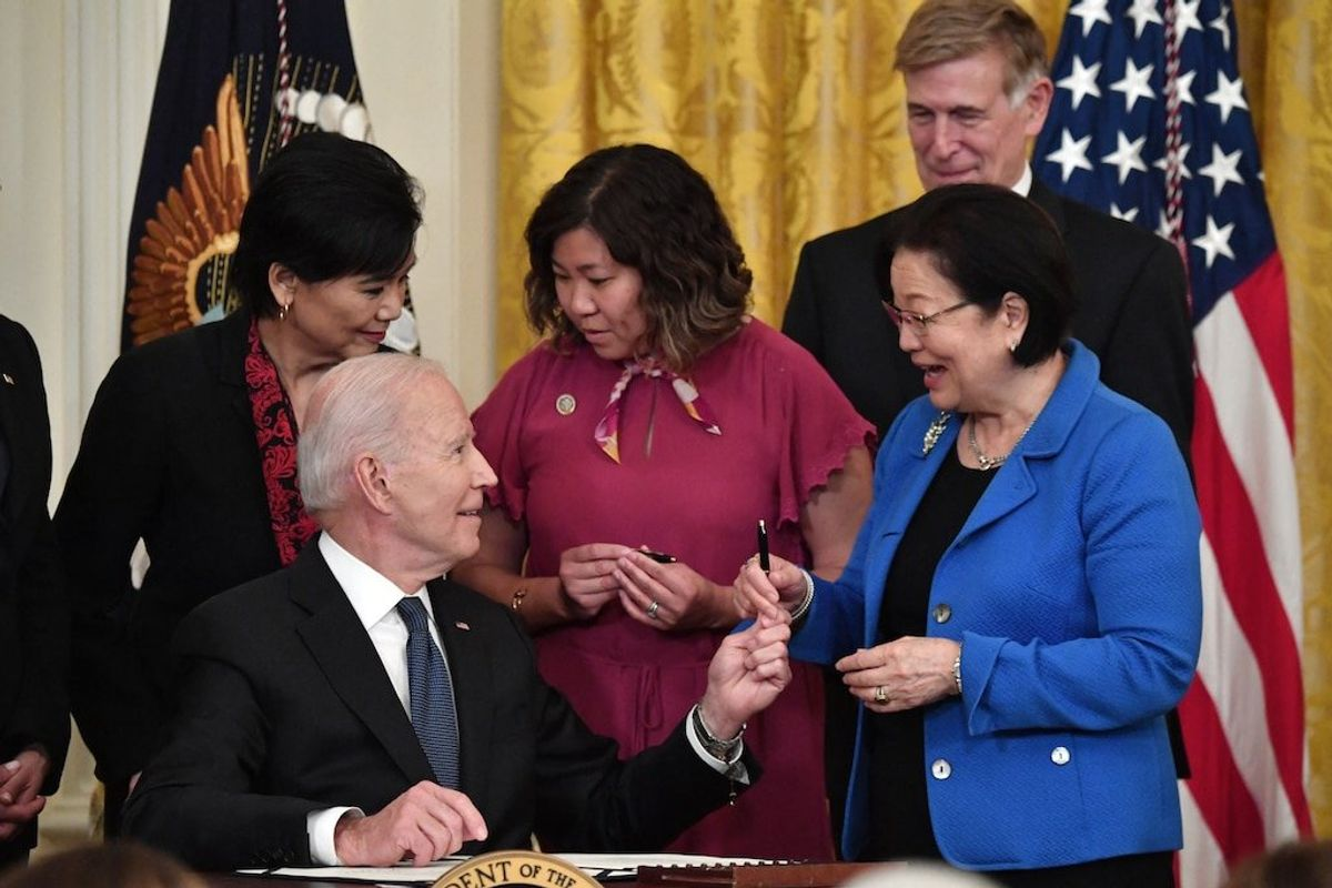 Biden Signs Hate Crimes Measure Into Law
