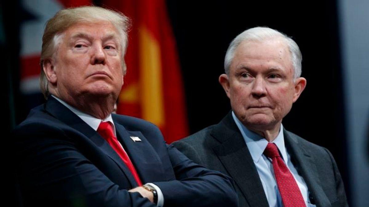 Trump Blames Attorney General for Russia Probe